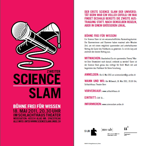 Flyer des Science Slam als PDF